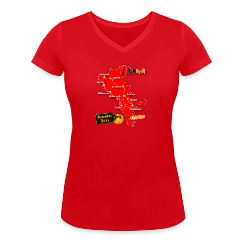 Tirana-01-01 - Stanley & Stellan naisten v-aukkoinen luomu-T-paita