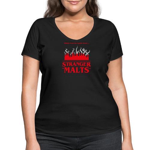 """""""Malt meets Movie""""-Series Part 2: STRANGER MALTS - Frauen Bio-T-Shirt mit V-Ausschnitt von Stanley & Stella"""