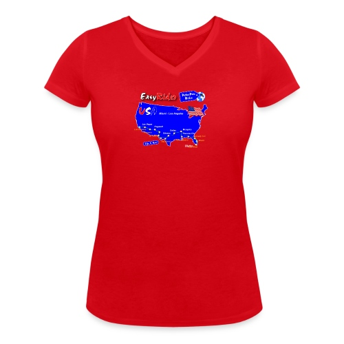EasyRider-01 - Stanley & Stellan naisten v-aukkoinen luomu-T-paita
