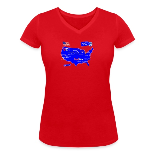 IndianRun-01 - Stanley & Stellan naisten v-aukkoinen luomu-T-paita