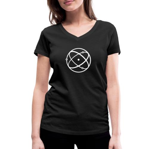 Atom, weiß - Frauen Bio-T-Shirt mit V-Ausschnitt von Stanley & Stella