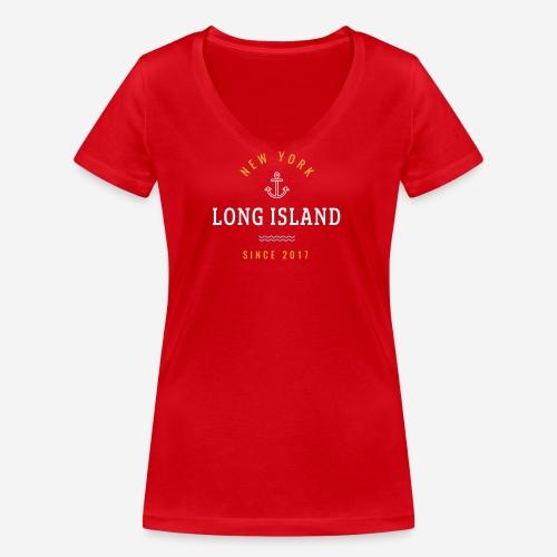 NEW YORK - LONG ISLAND - T-shirt ecologica da donna con scollo a V di Stanley & Stella