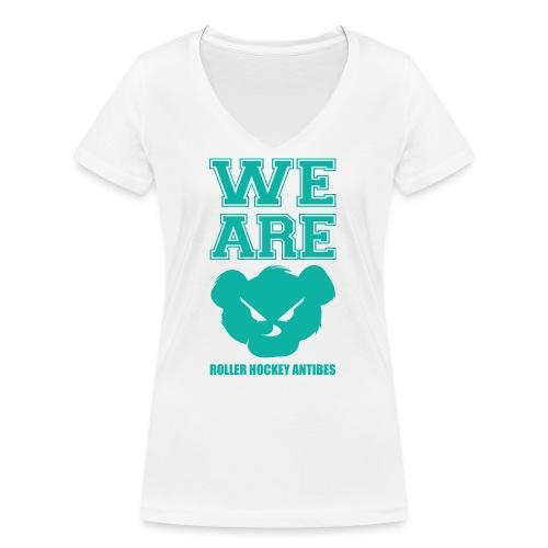weare png - T-shirt bio col V Stanley & Stella Femme