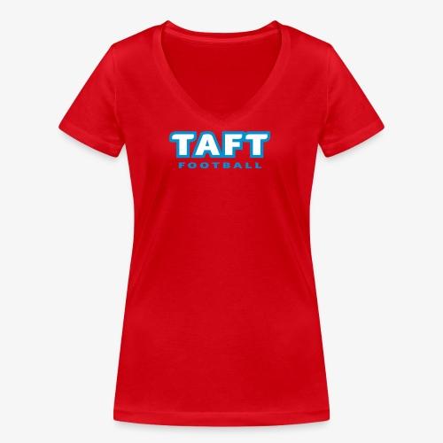 4769739 124019410 TAFT Football orig - Stanley & Stellan naisten v-aukkoinen luomu-T-paita