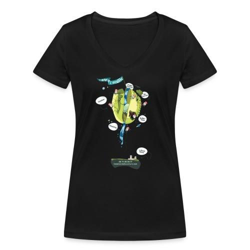 T-shirt Maison de L'aventure - T-shirt bio col V Stanley & Stella Femme