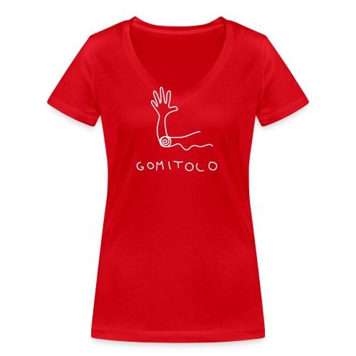 Gomito - T-shirt ecologica da donna con scollo a V di Stanley & Stella