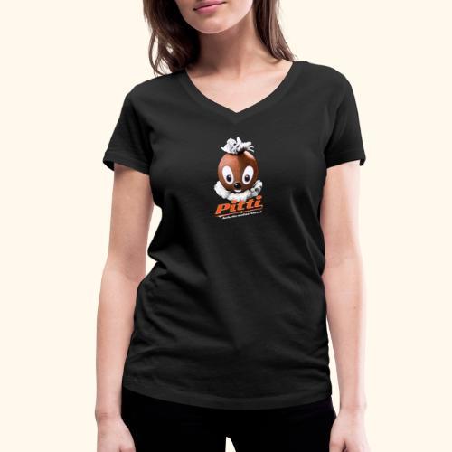 Pittiplatsch 3D Ach, du meine Nase auf dunkel - Frauen Bio-T-Shirt mit V-Ausschnitt von Stanley & Stella