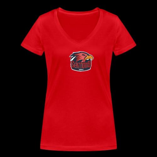Sektion9 logo Rot - Frauen Bio-T-Shirt mit V-Ausschnitt von Stanley & Stella