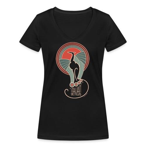italian greyhound jugendstil 8 - Vrouwen bio T-shirt met V-hals van Stanley & Stella