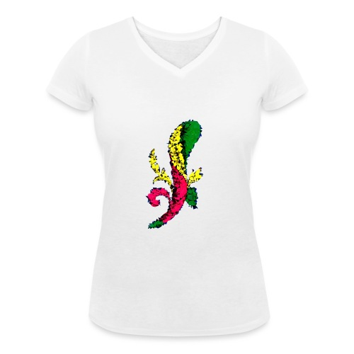 Asso bastoni - T-shirt ecologica da donna con scollo a V di Stanley & Stella
