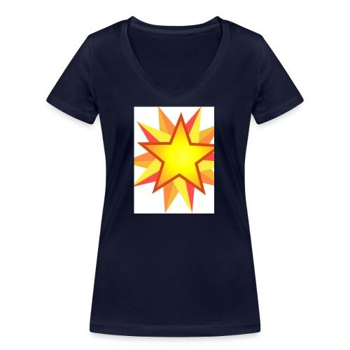 ck star merch - Women's Organic V-Neck T-Shirt by Stanley & Stella