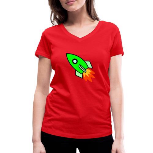 neon green - Women's Organic V-Neck T-Shirt by Stanley & Stella