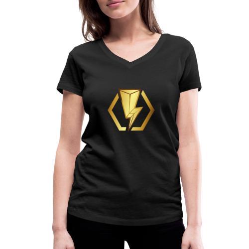 00405 Blitz dorado - Camiseta ecológica mujer con cuello de pico de Stanley & Stella