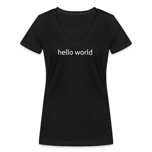 helloworld white - Vrouwen bio T-shirt met V-hals van Stanley & Stella