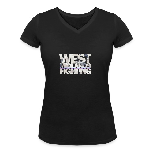 WMF low poly light - Women's Organic V-Neck T-Shirt by Stanley & Stella