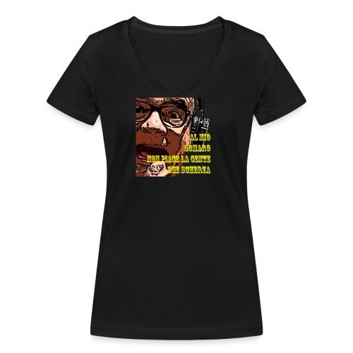 Caro Carlo mio somaro - T-shirt ecologica da donna con scollo a V di Stanley & Stella