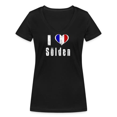 I love Sölden (France) - Frauen Bio-T-Shirt mit V-Ausschnitt von Stanley & Stella