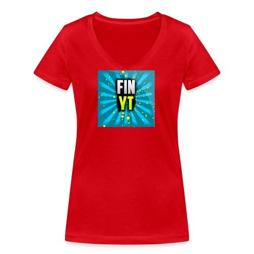 Uusi Youtube Logo - Stanley & Stellan naisten v-aukkoinen luomu-T-paita