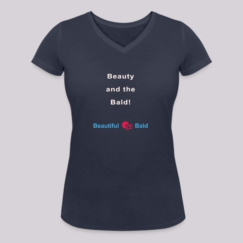 Beauty and the bald-w - Vrouwen bio T-shirt met V-hals van Stanley & Stella