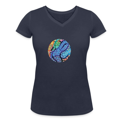 concentric - Women's Organic V-Neck T-Shirt by Stanley & Stella