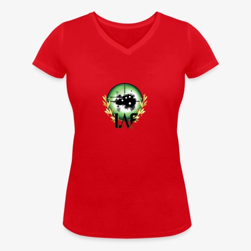Load Aim Fire Merchandise - Vrouwen bio T-shirt met V-hals van Stanley & Stella