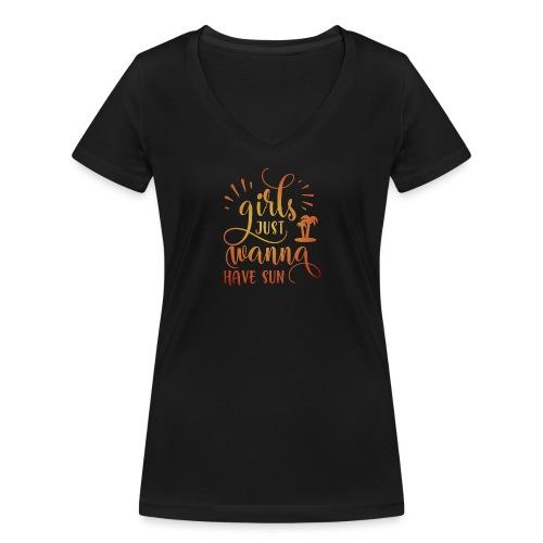 Girls just wanna SUN - T-shirt bio col V Stanley & Stella Femme