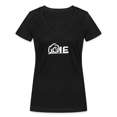 Isabelle Eigenraam Klein Wit - Vrouwen bio T-shirt met V-hals van Stanley & Stella