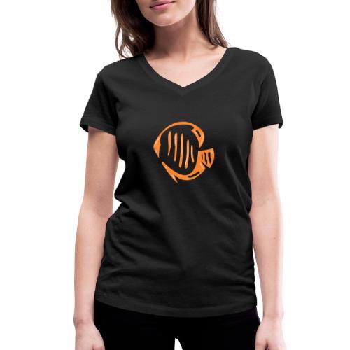 Aquarium Adventures Logo - Women's Organic V-Neck T-Shirt by Stanley & Stella
