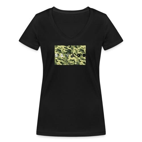 savage camo premium - Frauen Bio-T-Shirt mit V-Ausschnitt von Stanley & Stella