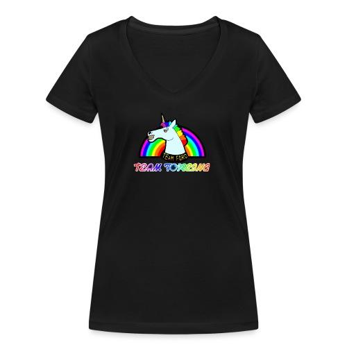 Logo officiel de la team forcing - T-shirt bio col V Stanley & Stella Femme