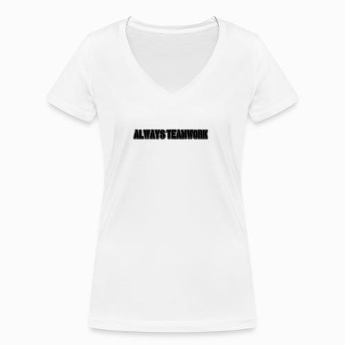 at team - Vrouwen bio T-shirt met V-hals van Stanley & Stella