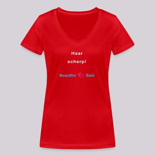 Haarscherp-w - Vrouwen bio T-shirt met V-hals van Stanley & Stella