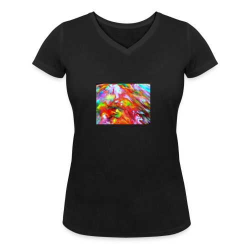 abstract 1 - Women's Organic V-Neck T-Shirt by Stanley & Stella