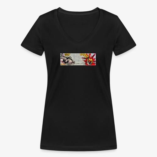 ATOX - T-shirt ecologica da donna con scollo a V di Stanley & Stella