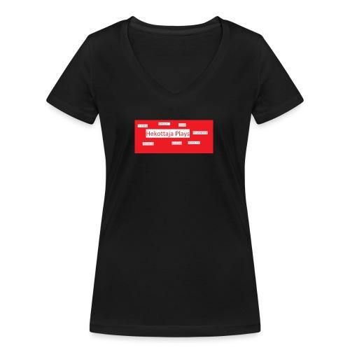 Hekottaja Plays - Stanley & Stellan naisten v-aukkoinen luomu-T-paita