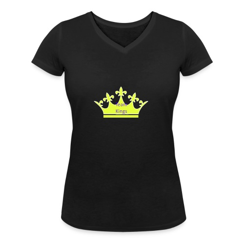 Team King Crown - Women's Organic V-Neck T-Shirt by Stanley & Stella