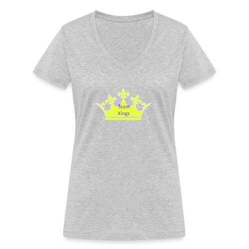 Team King Crown - Women's Organic V-Neck T-Shirt by Stanley & Stella