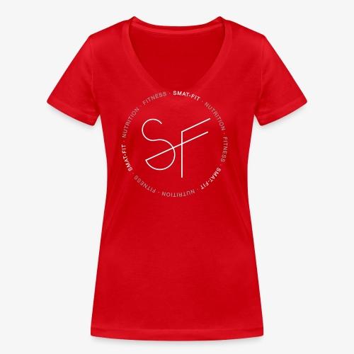 SMAT FIT NUTRITION & FITNESS FEMME - Camiseta ecológica mujer con cuello de pico de Stanley & Stella