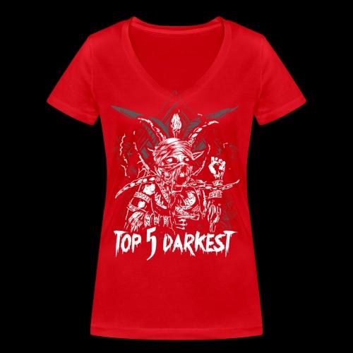 Top 5 Darkest - Women's Organic V-Neck T-Shirt by Stanley & Stella
