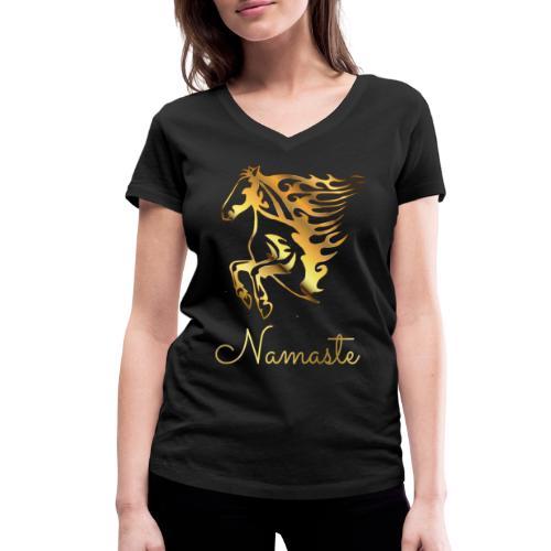 Namaste Horse On Fire - Frauen Bio-T-Shirt mit V-Ausschnitt von Stanley & Stella