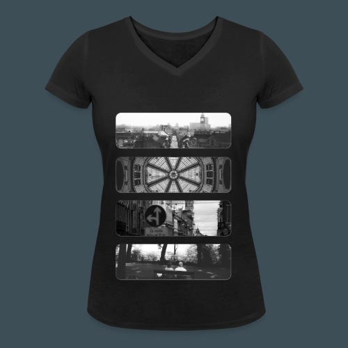 Zagreb Mono - Frauen Bio-T-Shirt mit V-Ausschnitt von Stanley & Stella