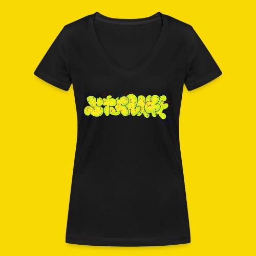 Strange Graffiti - Ekologiczna koszulka damska z dekoltem w serek Stanley & Stella