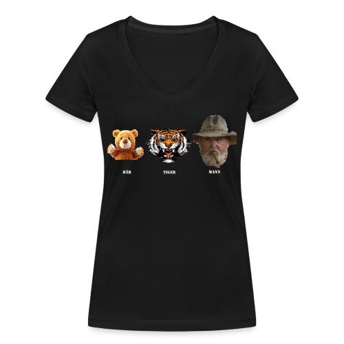 BärTigerMann Vektor w - Frauen Bio-T-Shirt mit V-Ausschnitt von Stanley & Stella
