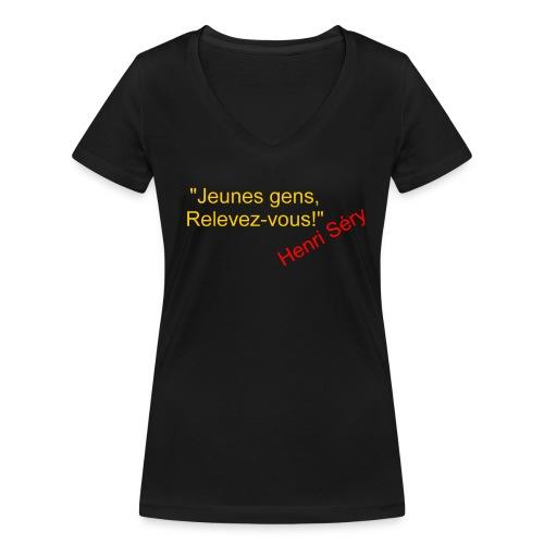 Pistols Clairon recto - T-shirt bio col V Stanley & Stella Femme