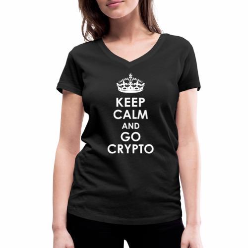 KeepCalmAndGoCrypto2 - Frauen Bio-T-Shirt mit V-Ausschnitt von Stanley & Stella