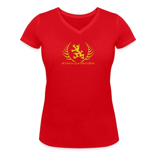 Schola logo with text - Women's Organic V-Neck T-Shirt by Stanley & Stella