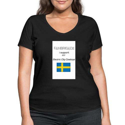 Fanbrigade - Økologisk Stanley & Stella T-shirt med V-udskæring til damer
