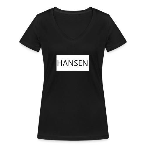 HANSENLOGO hvid - Økologisk Stanley & Stella T-shirt med V-udskæring til damer