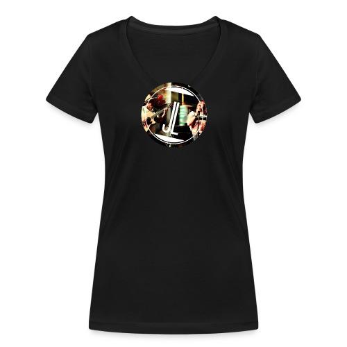 LOGO Jasmin Louis png - Frauen Bio-T-Shirt mit V-Ausschnitt von Stanley & Stella