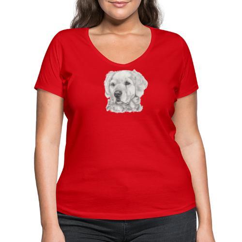 golden retriever - Økologisk Stanley & Stella T-shirt med V-udskæring til damer